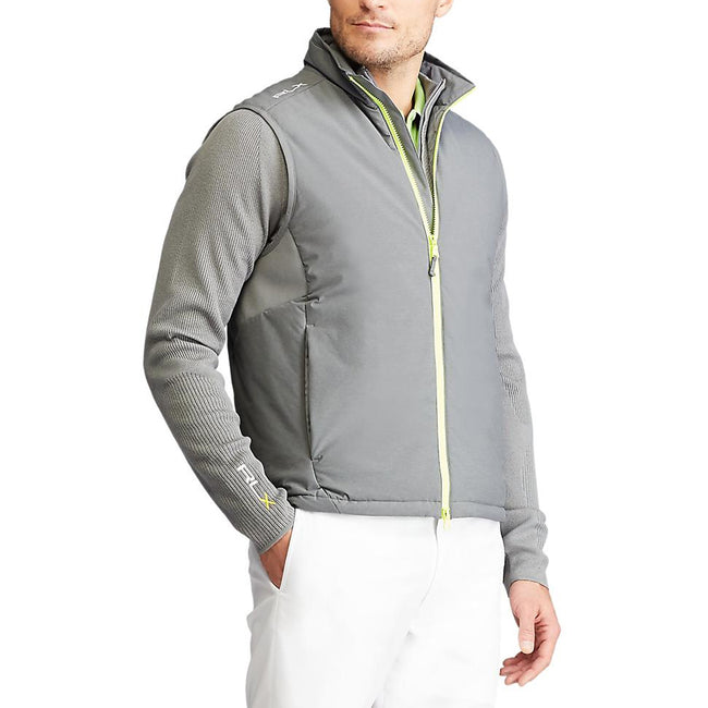 RLX Ralph Lauren Water-Repellent Golf Vest - Boulder Grey Heather