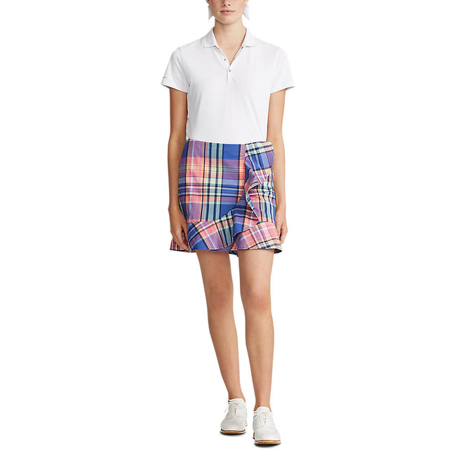 Polo Golf Ralph Lauren Women's Madras Ruffle-Hem Golf Skort - New England Madras