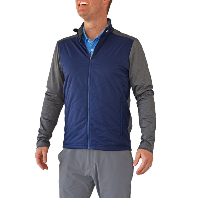 KJUS Retention Jacket - Atlanta Blue/Steel Grey Melange
