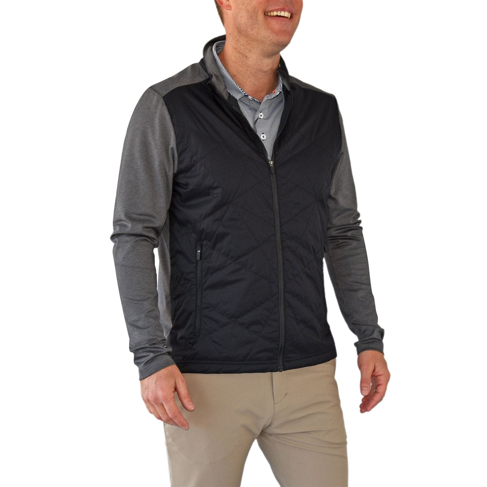 KJUS Retention Jacket - Black/Steel Grey Melange