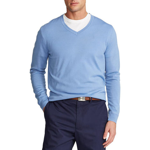 Polo Golf Ralph Lauren Cotton Crew Neck Sweater - Powder Blue