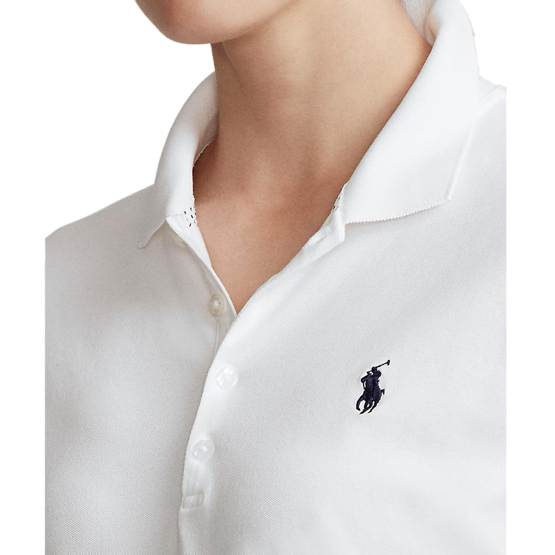 Polo Golf Ralph Lauren Women's Tailored Fit Long Sleeve Polo Shirt - Pure White