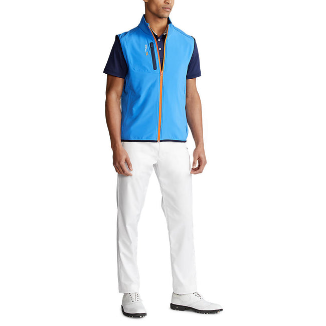 RLX Ralph Lauren Tech Terry FZ Vest - Colby Blue