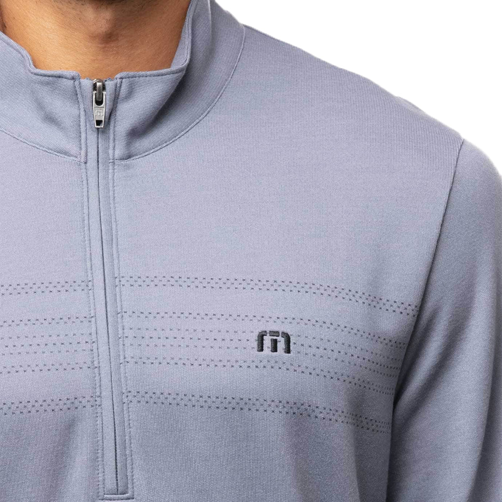 Travis Mathew Palm Reader 1/4 Zip Pull Over  - Heather Sargasso Sea