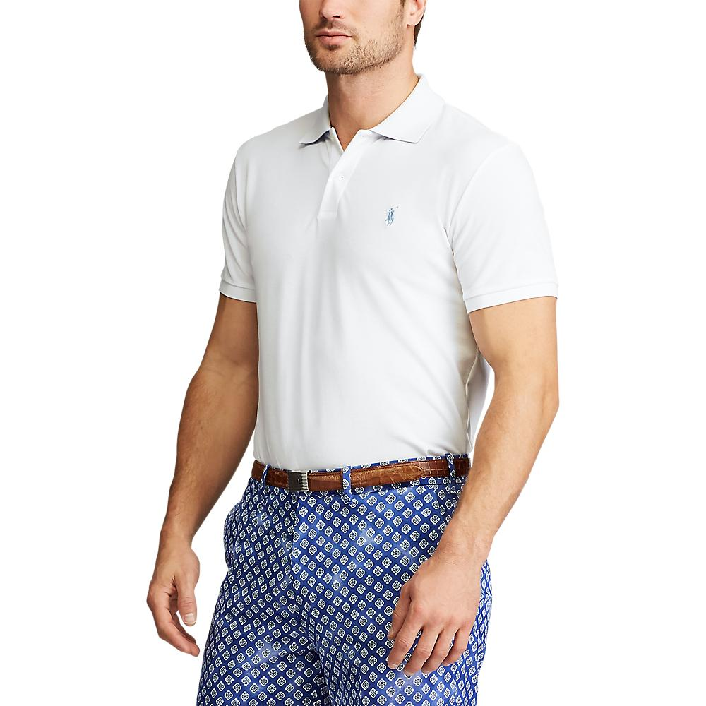 Polo Golf Ralph Lauren Custom Slim Performance Polo - White/Lt Blue