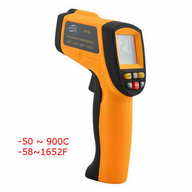 -50~900C -58~1652F Digital Pyrometer IR Infrared Thermometer Non-Contact Electronic Temperature Meter Point Gun GM900 - Tradinghealth