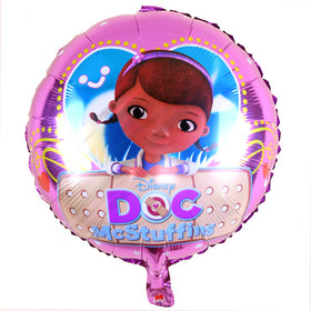 5pcs Birthday Party Decoration 18Inch doc mcstuffins clinic Foil Balloon Birthday Party Decoration Supplies kids Classic Toy - Tradinghealth