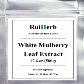 17.6oz (500g) White Mulberry Leaf Extract Powder Blood Sugar Control & Weight Loss Supplement - Fiber Rich, Increases Energy - Tradinghealth