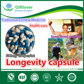 500mg*200pcs,Longevity Capsule,National pharmacist verify,Traditional Chinese Medicine health care,free shipping - Tradinghealth