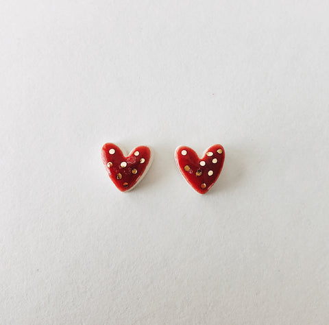 Red Polk -a- Dot Earrings