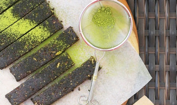 Chocolate Matcha Bars by Be Good Organics
