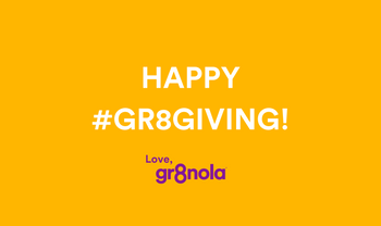 The #Gr8Giving Campaign