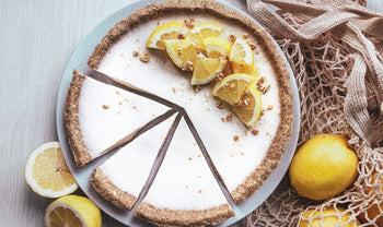 Healthy No-Bake Vegan Lemon Tart Recipe (Plant-Based and Dairy-Free)