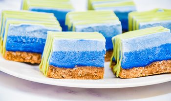 Blue Butterfly Pea Flower Matcha Earth Day Bar Recipe (Raw, Vegan, Plant-Based)