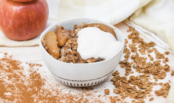 Healthy, Vegan-Friendly Spiced Cinnamon Chai Apple Crumble Recipe