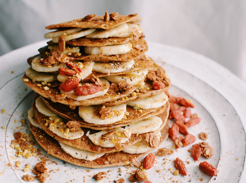 Cinnamon Horchata Pancakes @livinbowld fall seasonal autumn recipes