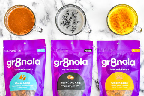 gr8nola, superfood granola, adaptogen, latte, superfood, immunity, immune, plant-based, vegan, 3 Plant-Based Immune-Boosting Adaptogen Lattes