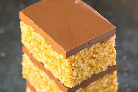Peanut Butter Cup Protein Rice Krispies Treats