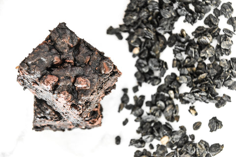 charcoal brownies recipe, activated charcoal brownies, midnight brownies, decadent, chocolate, chewy, crispy