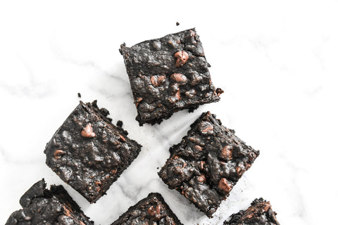 Activated Charcoal Chocolate Chunk Brownies Recipe (Vegan, Dairy-Free, Nut-Free)