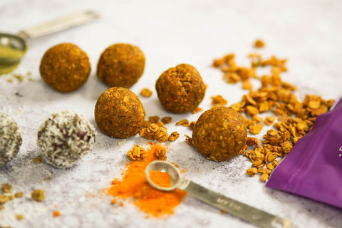 Matcha and Turmeric Superfood Energy Balls