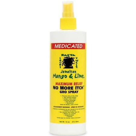 Jamaican Mango & Lime Medicated Maximum Relief No More Itch Gro Spray