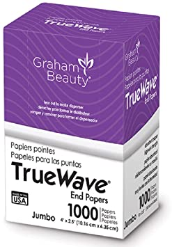 Graham Beauty Salon Truewave Jumbo End Paper 1000 Pack