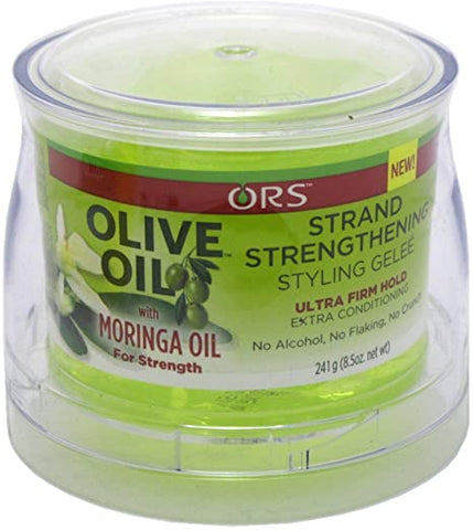 ORS Olive Oil with Moringa Oil Strand Strengthening Styling Gelee Ultra Firm Hold