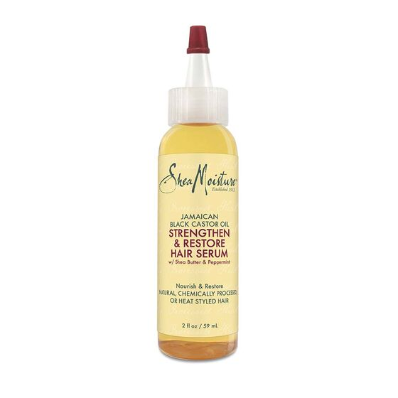 Shea Moisture Jamaican Black Castor Oil Strengthen & Restore Oil Serum 2oz
