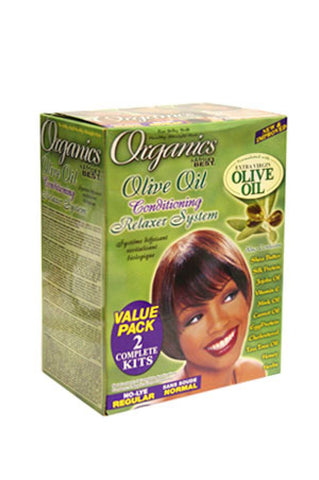AFRICA'S BEST Olive Oil Relaxer - Value Pack (Regular)