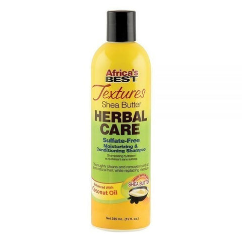 Africa's Best Shea Butter Herbal Care Sulfate-Free Moisturizing & Conditioning Shampoo 12oz