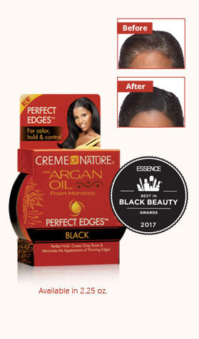 Creme Of Nature Argan Oil PERFECT HOLD Black