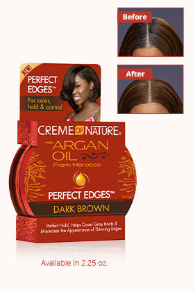 Creme of Nature Argan Oil Perfect Edges Dark Brown