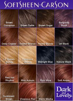 Dark and Lovely Permanent Hair Colour