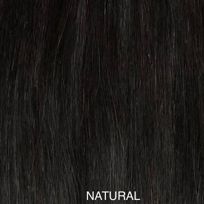 "CLIP-IN 7PCS 100% H/H Natural Straight 18"" , 20"""