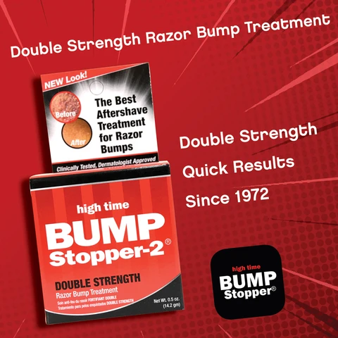 Bump Stopper-2 Razor Bump Treatment (Double Strength Formula) 0.5oz