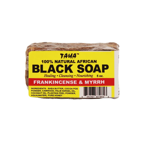 Taha Natural 100% Natural African Black Soap Bar