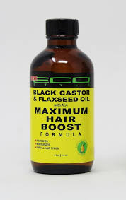 EcoStyler Black Castor & Flaxseed Maximum Hair Boost Formula