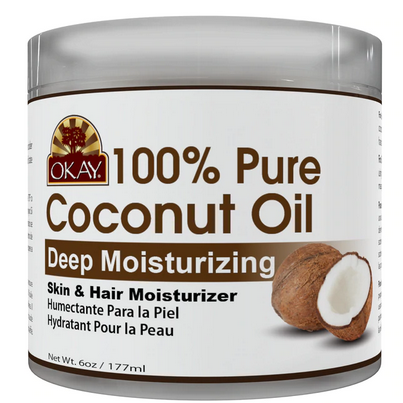 OKAY 100% Pure Coconut Oil Deep Moisturizing