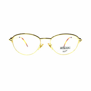 Gold Vintage Moschino MM 384 Glasses RSTKD Vintage