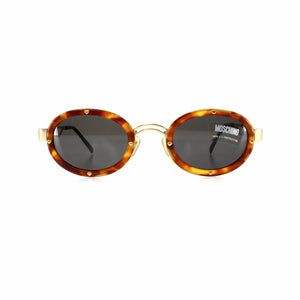 Gold Vintage Moschino MM3010-S Sunglasses RSTKD Vintage