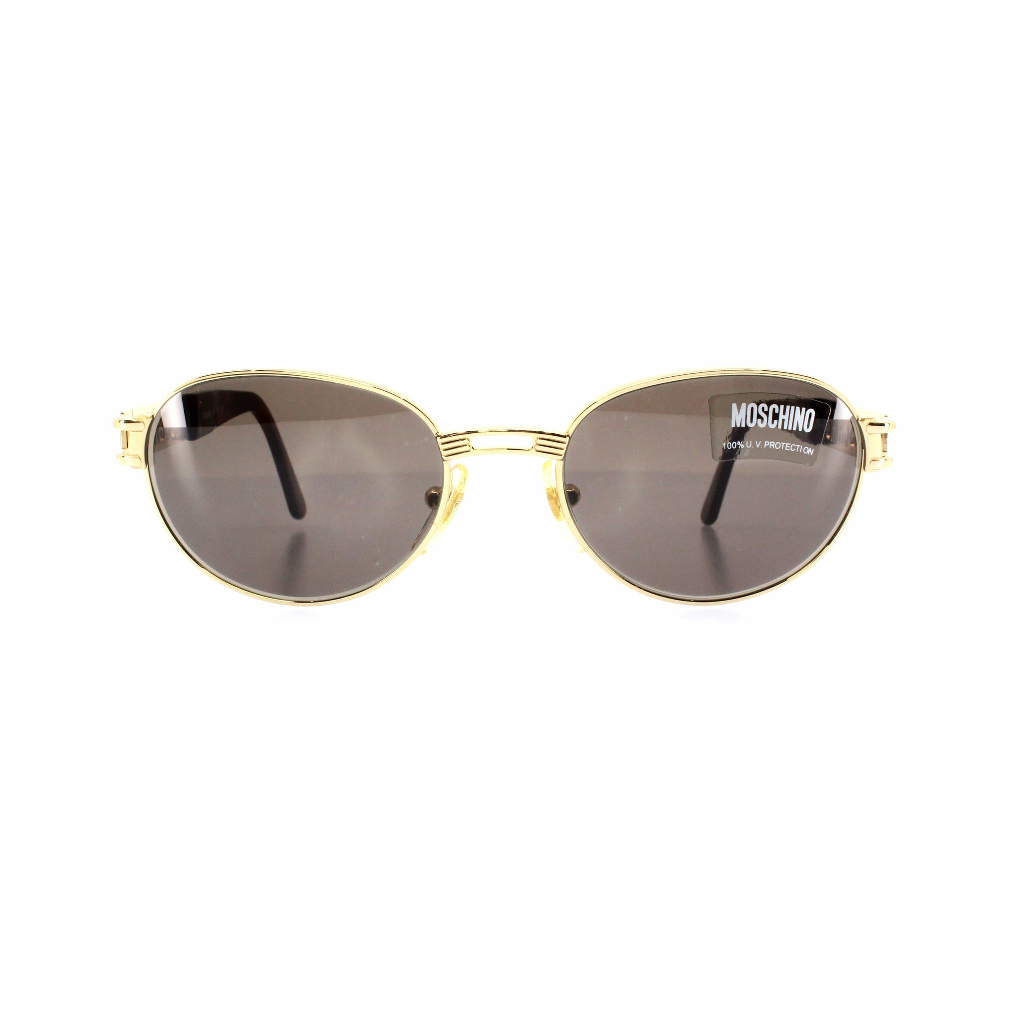Gold Vintage Moschino MM3018-S Sunglasses RSTKD Vintage