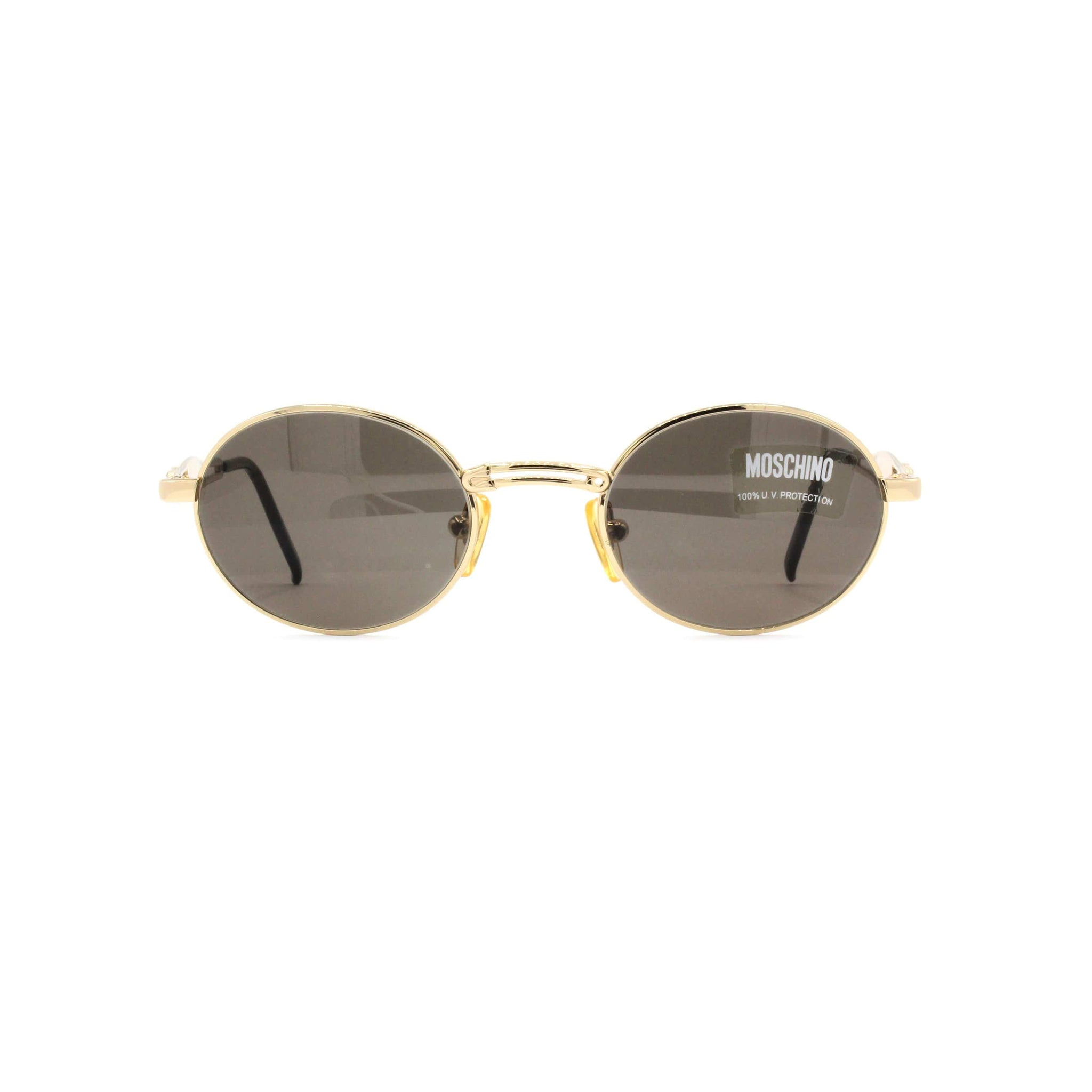 Gold Vintage Moschino MM3021-S Sunglasses RSTKD Vintage