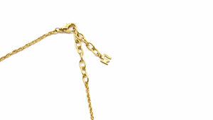 Gold Vintage Nina Ricci Pendant Necklace With Crystal Accents RSTKD Vintage