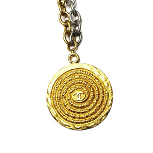 Heavy Gold/ Silver Chanel Two-Tone Spiral 31 Rue Cambon Chain RSTKD Vintage