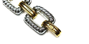 Heavy Gold/ Silver Givenchy Two-Tone Link Bracelet RSTKD Vintage