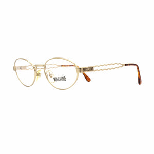 Matte Gold Vintage Moschino MM 925 Glasses RSTKD Vintage