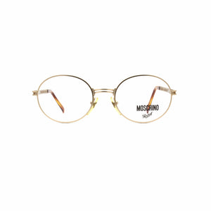 Matte Gold Vintage Moschino MM525 Glasses RSTKD Vintage