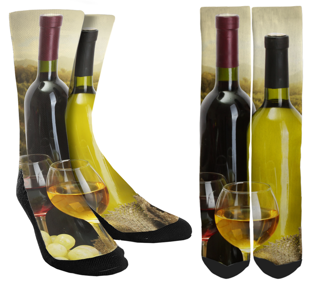 Wine Crew Socks - Pour Yourself a Glass And Show Some Style