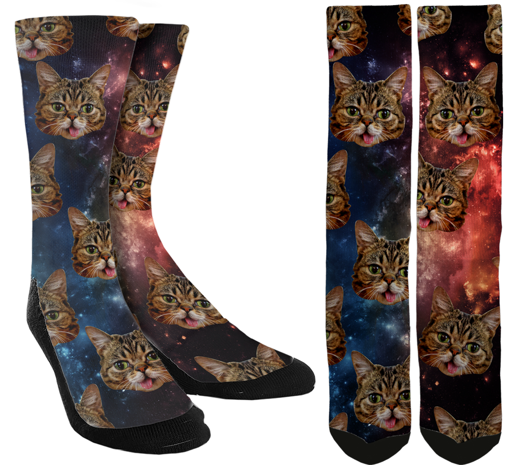 Cat Lovers Love Cats In Space Socks